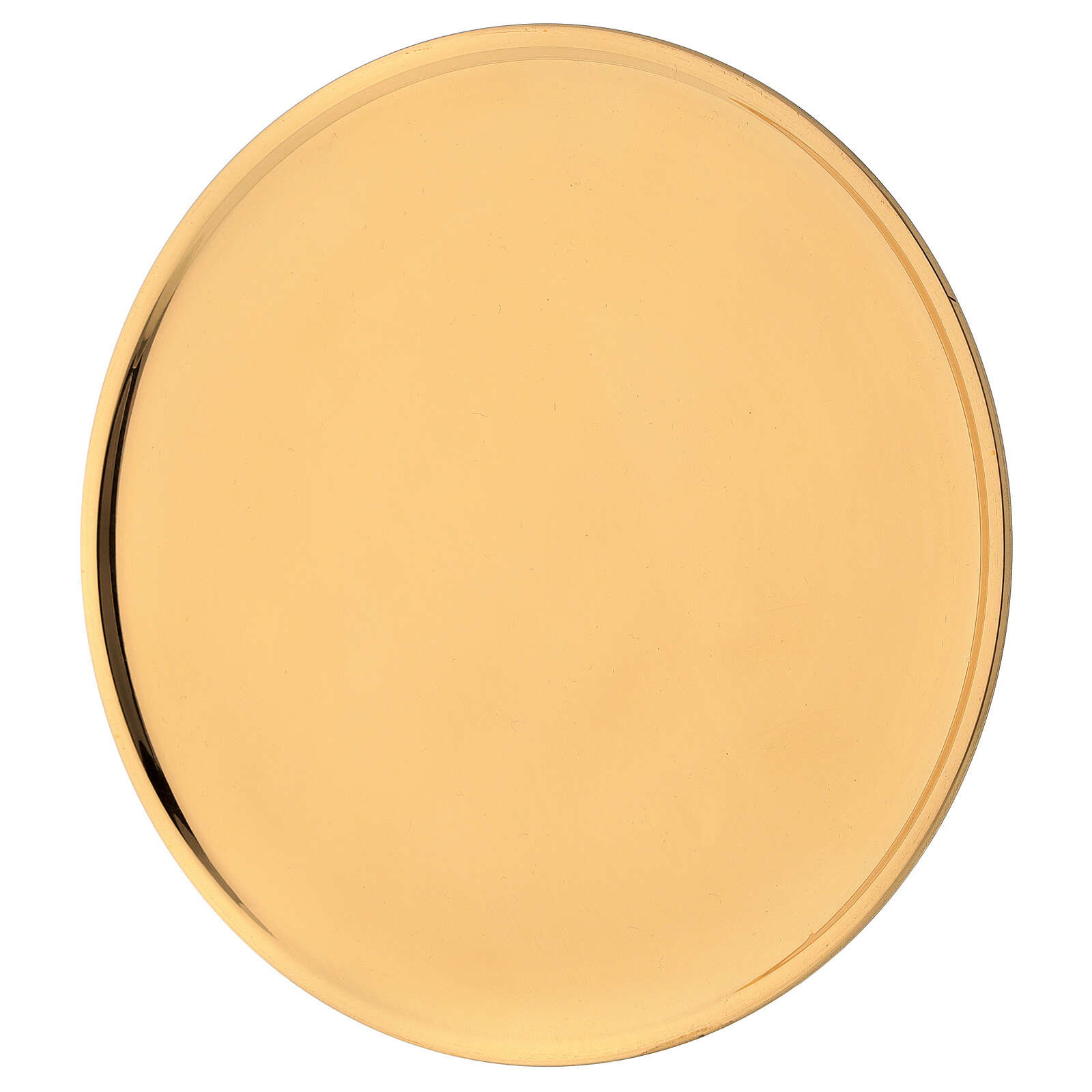 Candles plate diameter 19 cm shiny golden brass 3