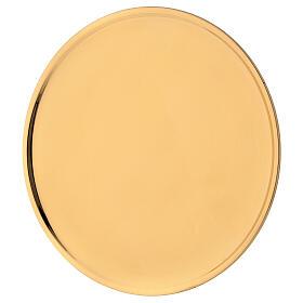 Plato velas diámetro 19 cm latón dorado lúcido s2