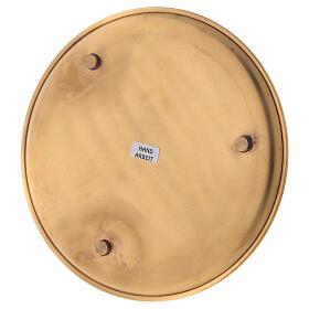 Piatto candele diametro 19 cm ottone dorato lucido s4