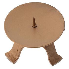 Punta portavela con pies color oro opaco diámetro 9,5 cm s2