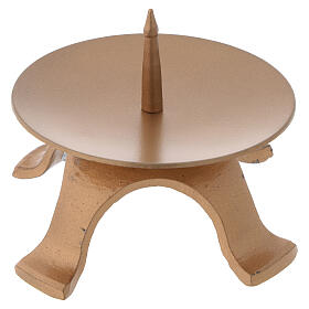 Portavela pies hierro color oro diámetro 9,5 cm s1