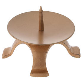 Portavela pies hierro color oro diámetro 9,5 cm s3