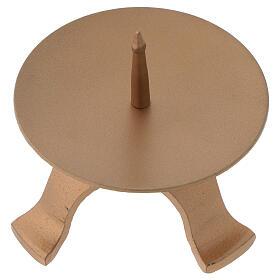 Portacandela piedini ferro color oro diametro 9,5 cm s2