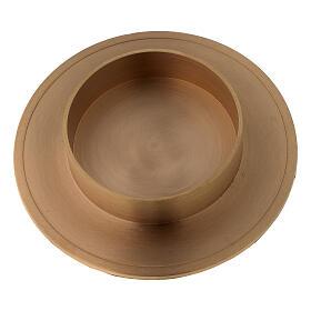 Portavela latón dorado satinado diámetro vela 10 cm s2