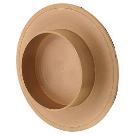 Portavela latón dorado satinado diámetro vela 10 cm s3