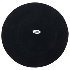 Portavela latón dorado satinado diámetro vela 10 cm s4