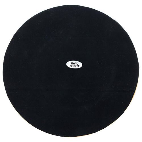 Portavela latón dorado satinado diámetro vela 10 cm 4