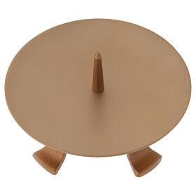 Portavela pies hierro dorado punta diámetro 13 cm s2