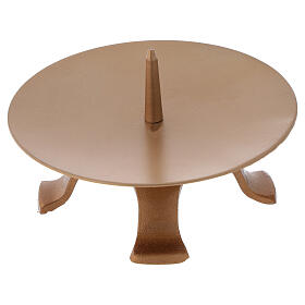 Portavela pies hierro dorado punta diámetro 13 cm s3
