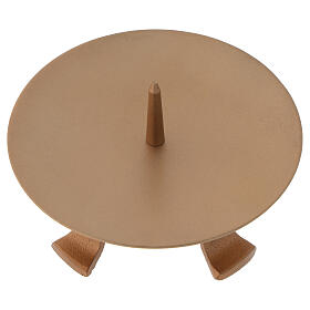 Portacandela piedini ferro dorato punzone diametro 13 cm s2