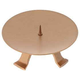 Portacandela diametro 13 cm ferro color oro piedini s1