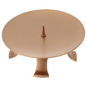 Portacandela diametro 13 cm ferro color oro piedini s3