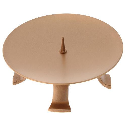 Portacandela diametro 13 cm ferro color oro piedini 3