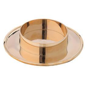 Base bougie laiton doré brillant diamètre 10 cm s1