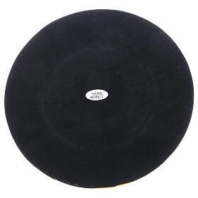 Base bougie laiton doré brillant diamètre 10 cm s4