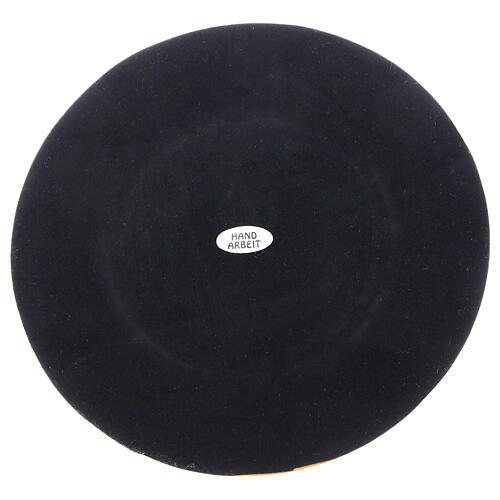 Base bougie laiton doré brillant diamètre 10 cm 4