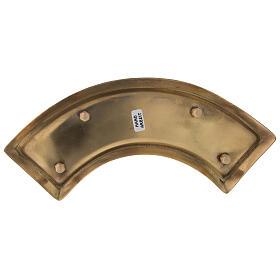 Piatto portacandela ricurvo ottone dorato 30 cm s3