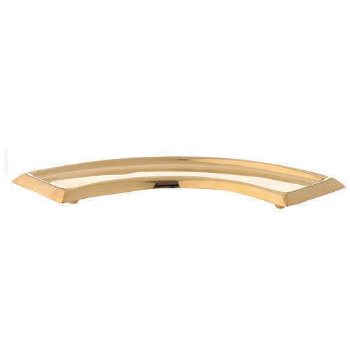 Piatto portacandela ricurvo ottone dorato 30 cm 1