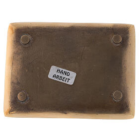 Plato vela latón dorado lúcido rectangular 10x7 cm s3