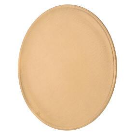 Candle holder plate diameter 19 cm satin golden brass s2