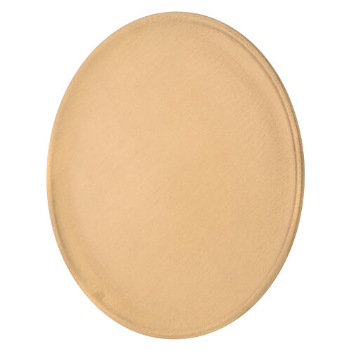 Candle holder plate diameter 19 cm satin golden brass 2