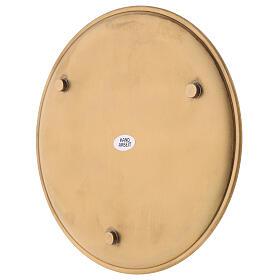 Piatto portacandela diametro 19 cm ottone dorato satinato s3