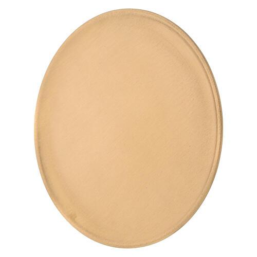 Piatto portacandela diametro 19 cm ottone dorato satinato 2