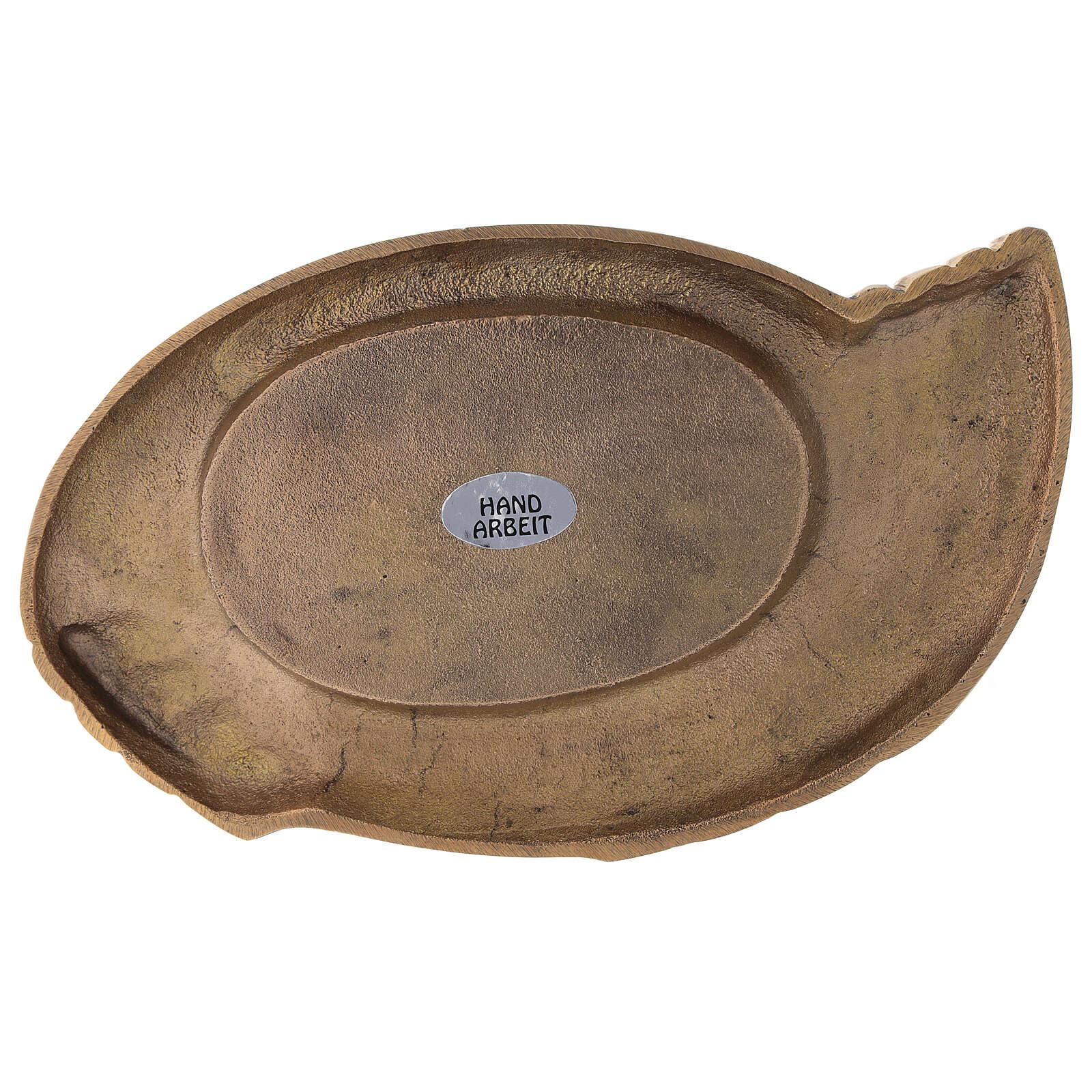 Portavela latón dorado lúcido forma de alas velas 6 cm 3