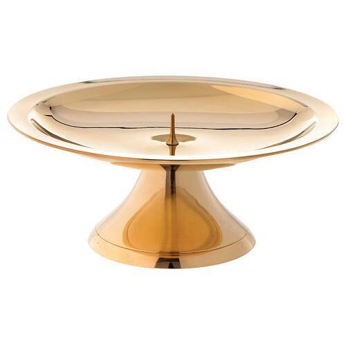 Portavela latón dorado lúcido 14 cm 1
