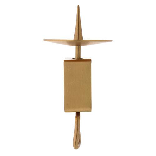 Portavela rectangular latón satinado dorado 10 cm 1