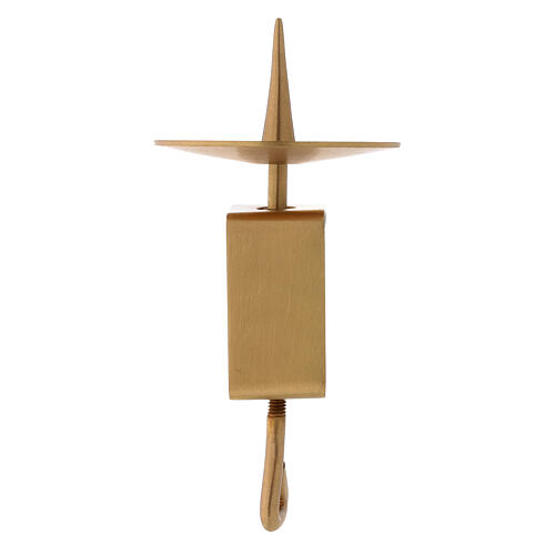 Adjustable candlestick gold plated brass satin finish 4 in 1