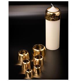Cappa per candele ottone dorato 4 cm s3