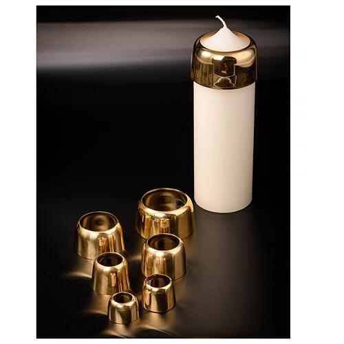 Cappa per candele ottone dorato 4 cm 3