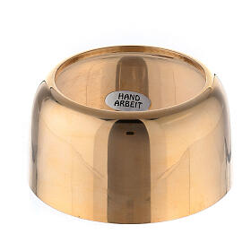 Gold plated brass follower for candles 1 1/2 in s1