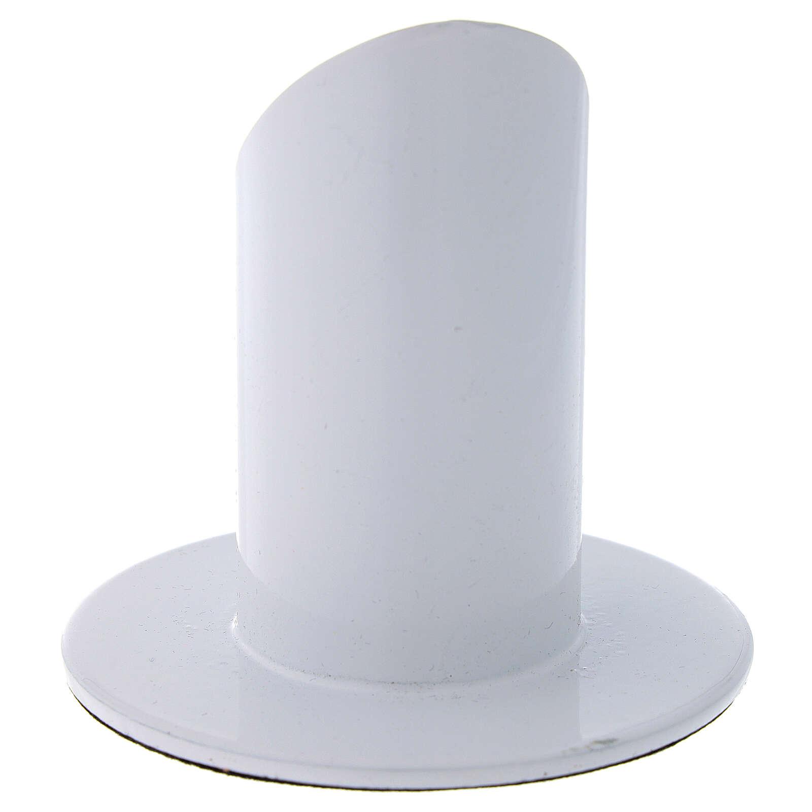 Portacandela in ottone bianco 3 cm 3