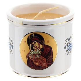 Portavela griego Cristo Pantocrátor y Virgen s2