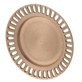 Assiette pour bougie laiton doré satiné ajouré 11 cm s2