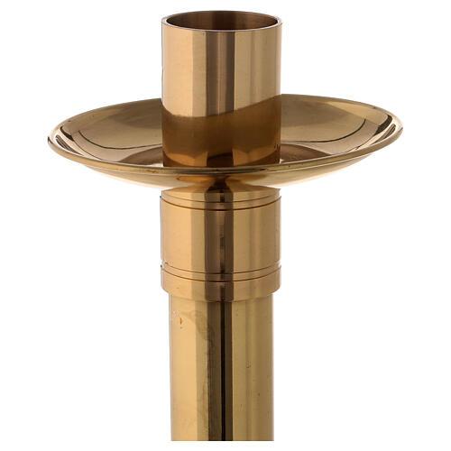 Chandelier autel laiton doré pique et bocal 33 cm 2