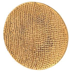 Plato portavela aluminio dorado nido de abeja d. 14 cm s2