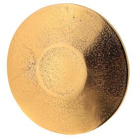 Plato portavela aluminio dorado nido de abeja d. 14 cm s3