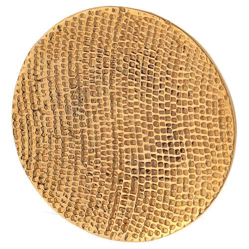 Plato portavela aluminio dorado nido de abeja d. 14 cm 2