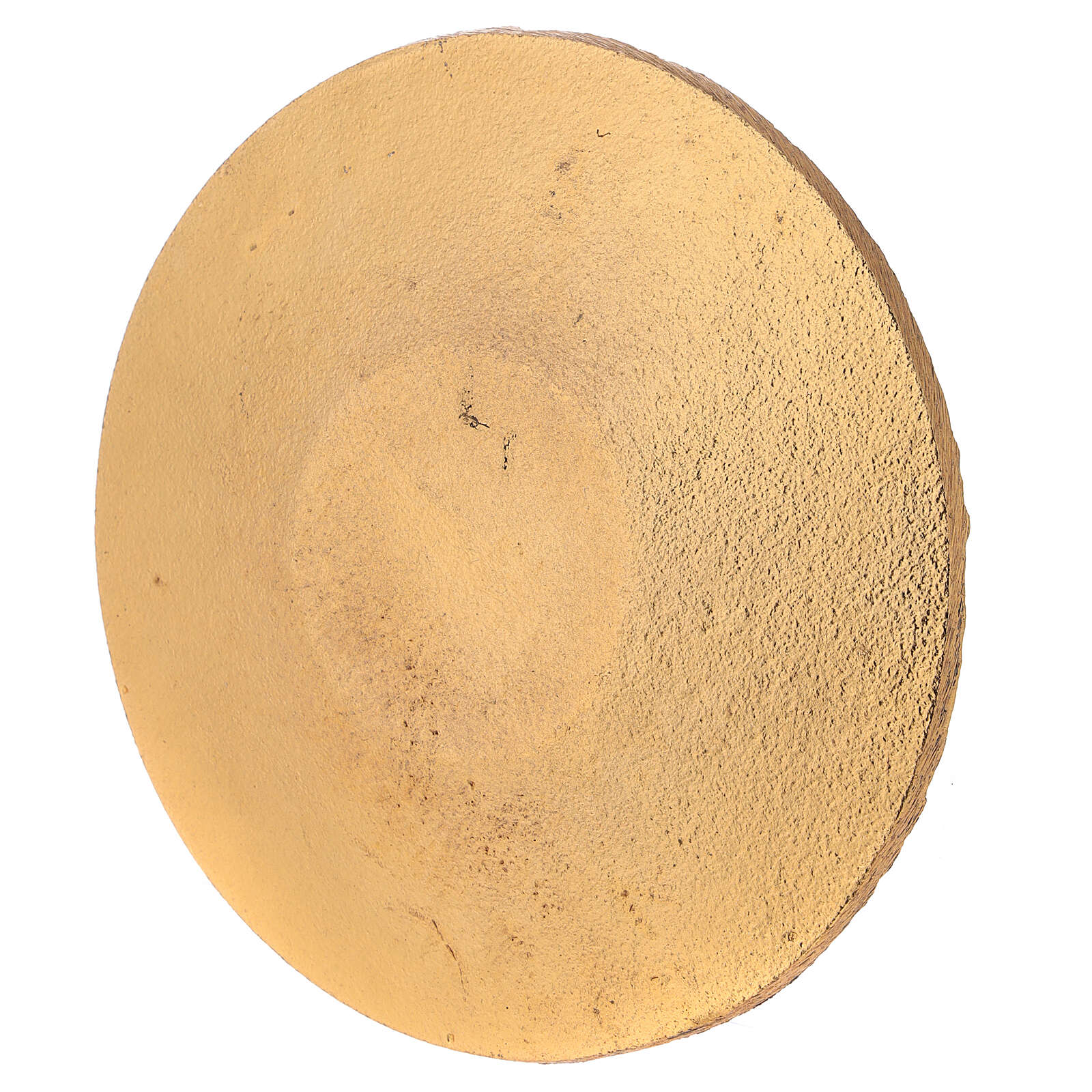 Piatto portacandela nido d'ape nero oro diametro 14 cm 3