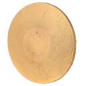 Piatto portacandela nido d'ape nero oro diametro 14 cm s3