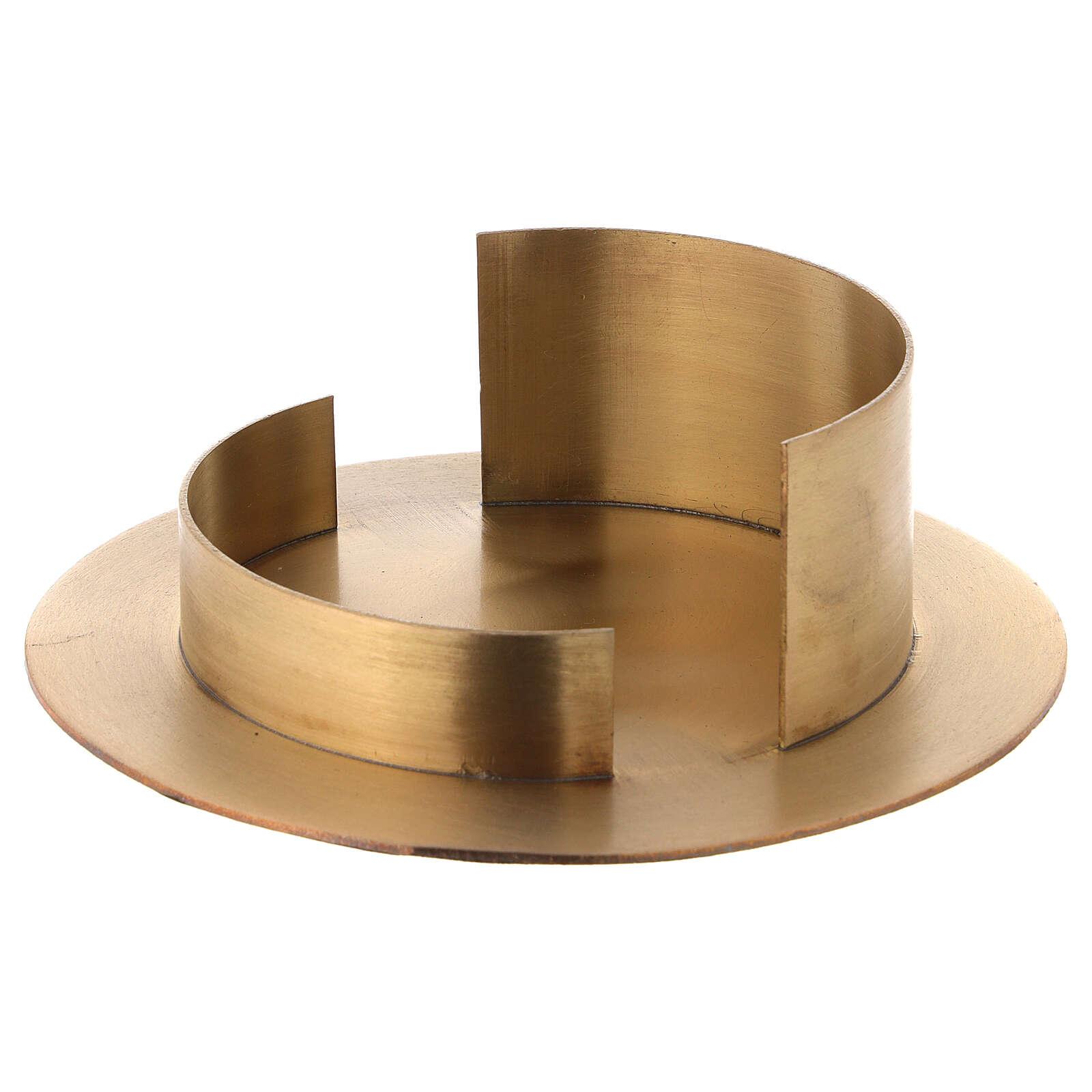 Base per candele diametro 10 cm ottone dorato satinato 4
