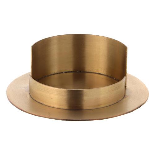 Base per candele diametro 10 cm ottone dorato satinato 1