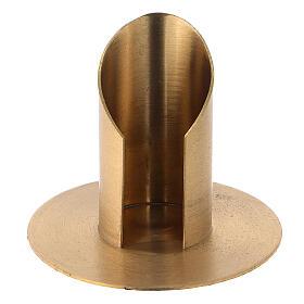 Portavela latón niquelado satinado diámetro 3,5 cm s1