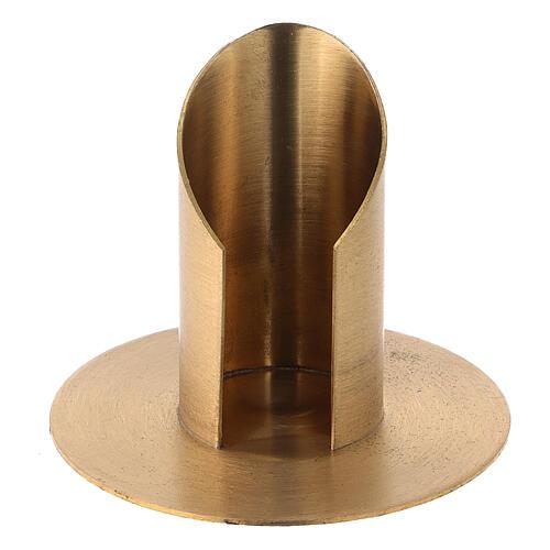Portavela latón niquelado satinado diámetro 3,5 cm 1