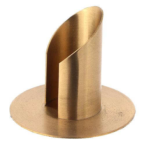 Portavela latón niquelado satinado diámetro 3,5 cm 2