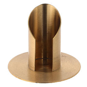 Portacandela ottone nichelato satinato diametro 3,5 cm s1