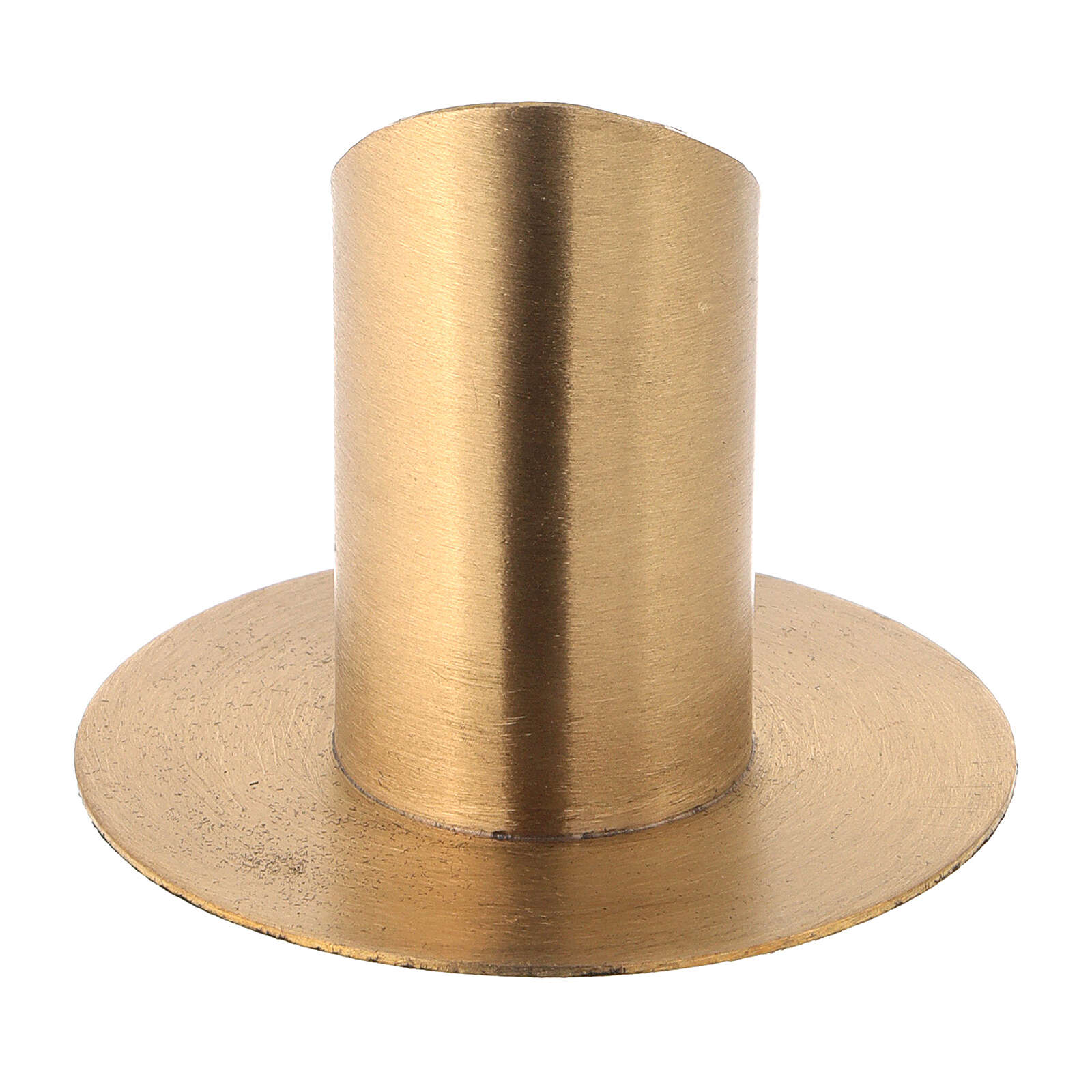 Nickel-plated brass candlestick with satin finish diameter 1 1/2 in 4